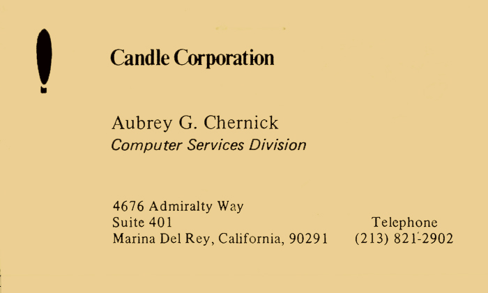 Aubrey Chernick - First Business Card