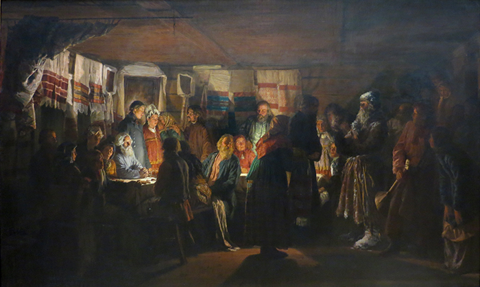 Arrival Of The Sorcerer At A Peasant Wedding - Vasily Maksimovich