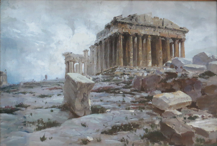 The Parthenon, Temple Of Athena Pallas, 1881-1882 - Vasily Dmitrievich Polenov