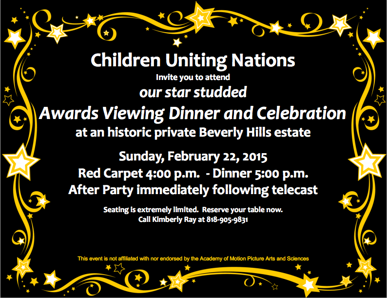 Children Uniting Nations - 2014 Oscar Party